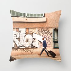 #TAGGING STREETART LIFE BERLIN, GERMANY by Jay Hops Throw Pillow