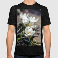 White Crocus  Mens Fitted Tee Tri-Black SMALL