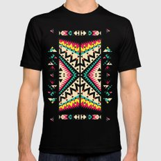 Tribal Mens Fitted Tee SMALL Black