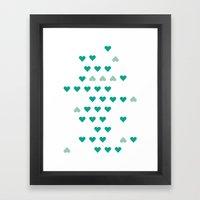 bleating hearts Framed Art Print