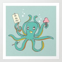 Octopus Friend Art Print