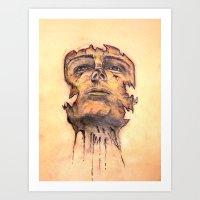 Face Upon Deteriation Art Print
