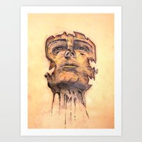 Face upon Deteriation Art Print