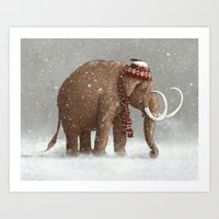 snow Art Prints featuring The Ice Age Sucked by Terry Fan