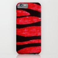 Zebra Print and Red Glitters  iPhone 6 Slim Case