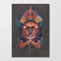 Red Fire Monkey Canvas Print