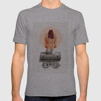 Traveling with loneliness Mens Fitted Tee Athletic Grey SMALL