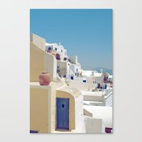 Santorini Door VIII Canvas Print