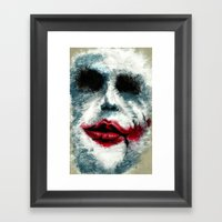 Why So Serious? Framed Art Print