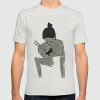eating Mens Fitted Tee Silver SMALL