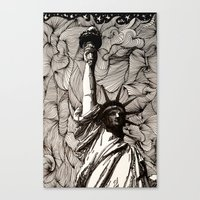 Lady Liberty Got nothing on me. Canvas Print