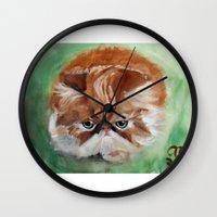 Grumpy Persian Wall Clock