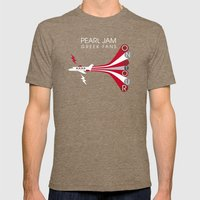 PJ Greek Fans On Tour Mens Fitted Tee Tri-Coffee SMALL