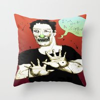 Not A Zombie Throw Pillow