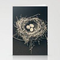 bird nest Stationery Cards