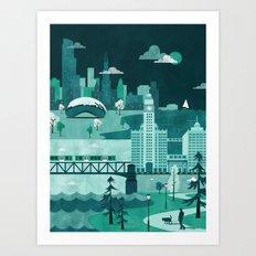 Chicago Travel Poster Il… Art Print