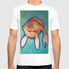Fish Mens Fitted Tee SMALL White