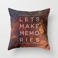 Let's Make Memories Throw Pillow