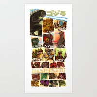 Destroy All Monsters Art Print