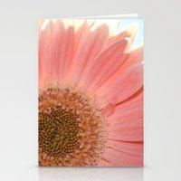 Peach Gerbera Stationery Cards