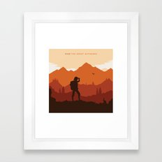 Hike The Great Outdoors Framed Art Print