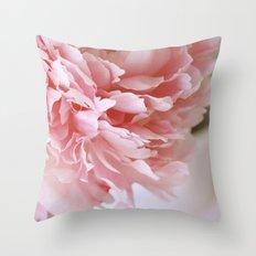 Peony Pink Throw Pillow