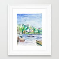 En plein air Framed Art Print