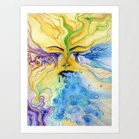 sensory vomit Art Print