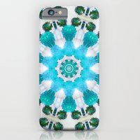 Blue mosaic mandala iPhone 6 Slim Case