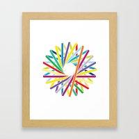 Iris - To Wear Framed Art Print