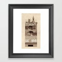 Townscape Vintage Framed Art Print