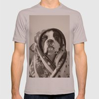 Obi Wan (Buck the world's most lovable boxer dog) Mens Fitted Tee Cinder SMALL