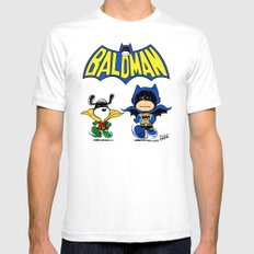 Baldman Mens Fitted Tee White SMALL