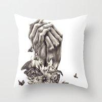 Pray for Nature Throw Pillow