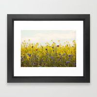 Yellow Wildflowers Framed Art Print