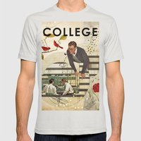 Welcome to... College Mens Fitted Tee Silver SMALL