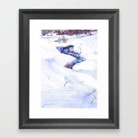 Open Stream In Winter Framed Art Print