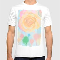 T-shirt featuring Pastel Roses On An Abstr… by Thea Walstra
