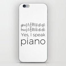 I speak piano iPhone & iPod Skin