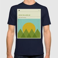 Drink the Wild Air Mens Fitted Tee Navy SMALL