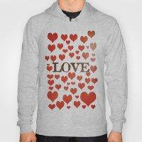Love Heart Valentines De… Hoody