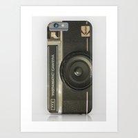 camera Art Prints featuring CAMERA by Monika Strigel
