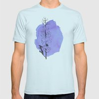delphinium Mens Fitted Tee Light Blue SMALL