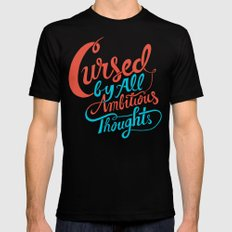 Cursed by all Ambitious Thoughts SMALL Mens Fitted Tee Black