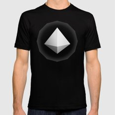 Mountain Icon Mens Fitted Tee SMALL Black