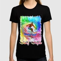 Surf Style Womens Fitted Tee Black SMALL