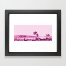 South End Of Lake Champl… Framed Art Print