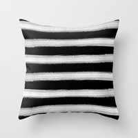 Parallel Lines Throw Pillow