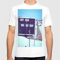 Dirty Deeds Mens Fitted Tee White SMALL