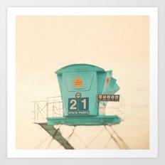 Beach Photograph, Lifegu… Art Print